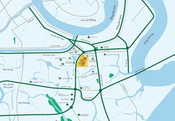 Eco Green sở hữu vị trí đắc địa