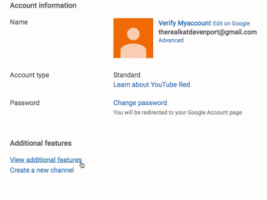 How to verify Youtube account 1
