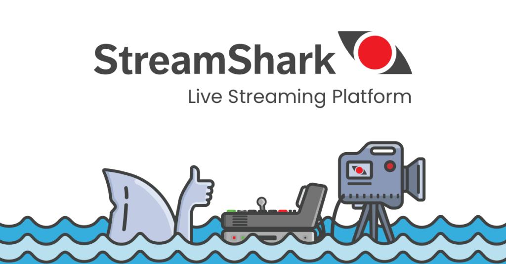 StreamShark Website for Church Streaming Software Screenshot
