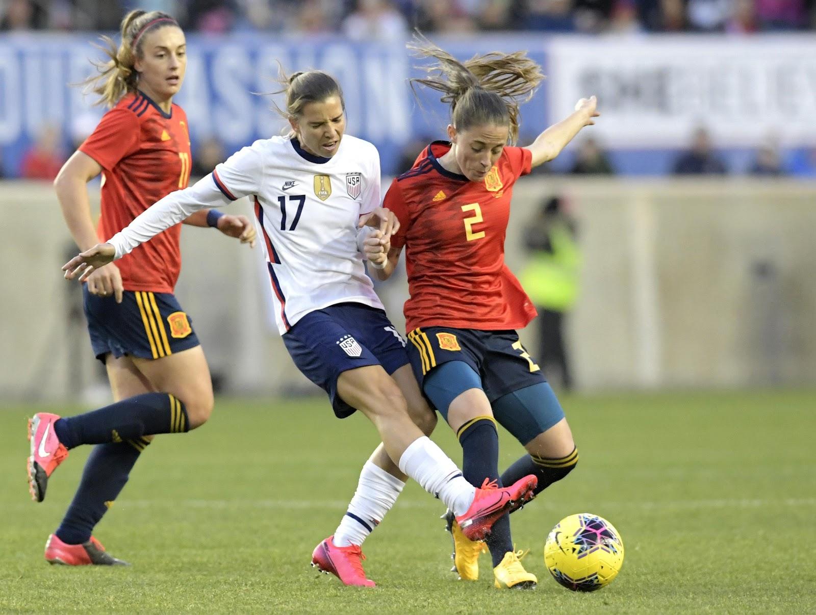 US WOMEN'S SOCCER | Ertz's header gives US 1-0 win over Spain in ...