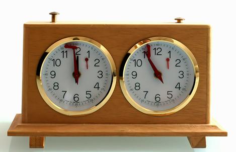 An analog chess Clock