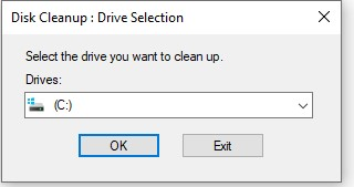 Choose C: since you'll be using the Disk Cleanup tool to delete the windows.old folder.
