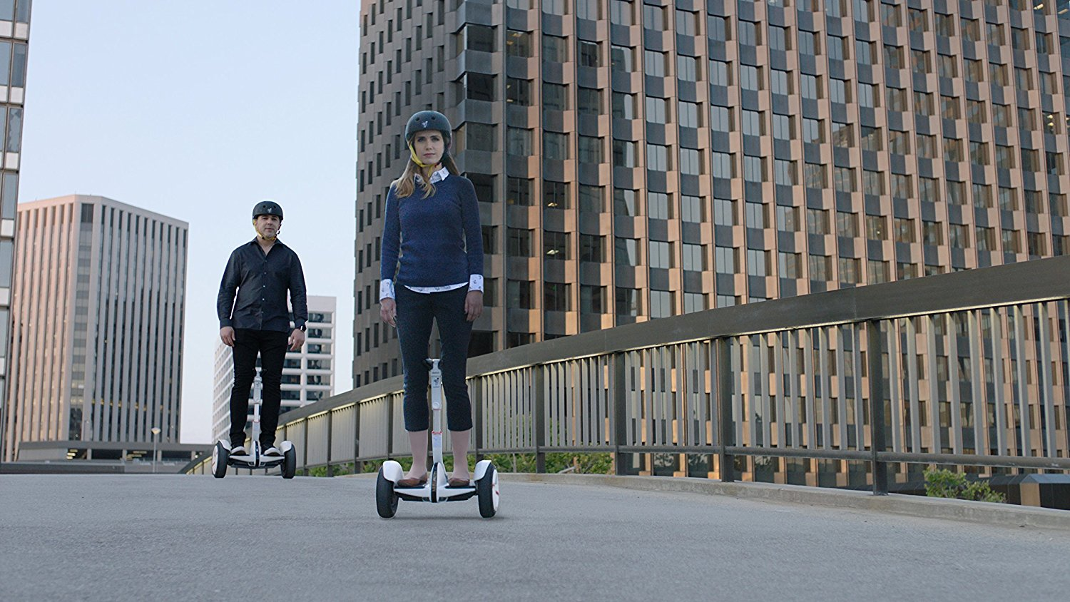 riding hoverboard