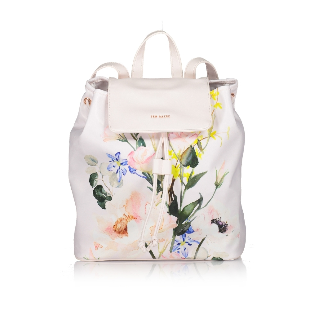 TED BAKER Eloisse Elegant Nylon Drawstring Backpack