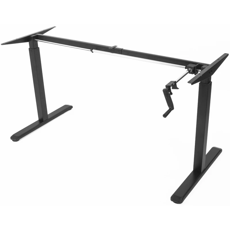 VIVO Manual Height Adjustable Stand Up Desk Frame is a desk frame that you can add plywood of your choice to create a desk that matches with the overall decor of your house