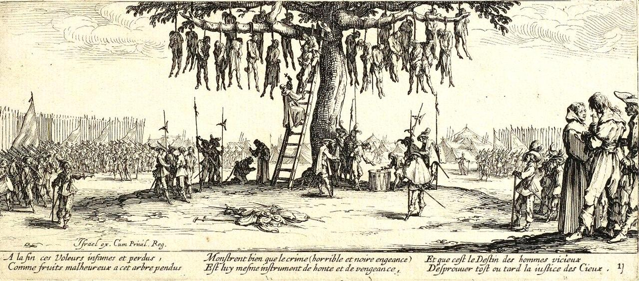 Περιγραφή: https://upload.wikimedia.org/wikipedia/commons/thumb/f/fe/The_Hanging_by_Jacques_Callot.jpg/1280px-The_Hanging_by_Jacques_Callot.jpg