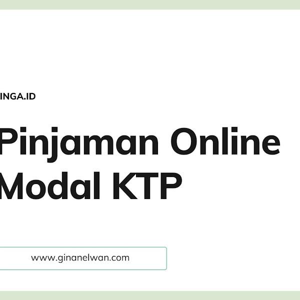 Pinjaman Online Modal KTP