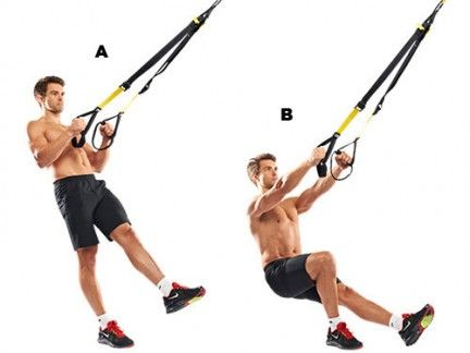 TRX modified pistol squat