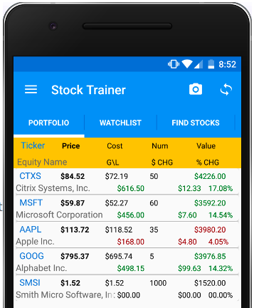 Simulators of stock market trainer applications – the rationale for using and dignity