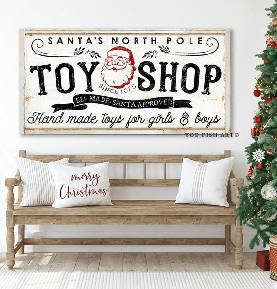 Ideas for Vintage Christmas Sign Wall Decor