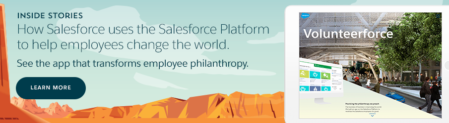 The App that Helps Salesforce Employees Change the World