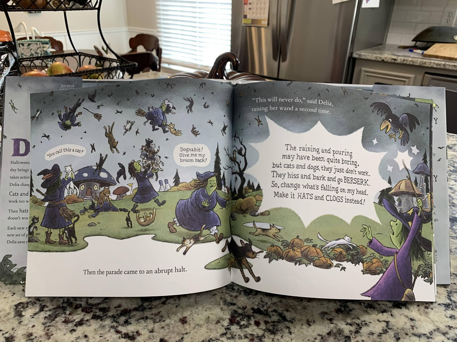 bats and frogs witches book for kids in the fall