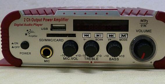 Mini USB SD FM stéréo trois en 1 Kentiger HY600 Amplificateur couleur bleue Microphone entrée de la télécommande 2 CH Car Amplificateur www.avalonlineshopping.com 7.jpg
