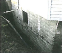 Pipe leading into house