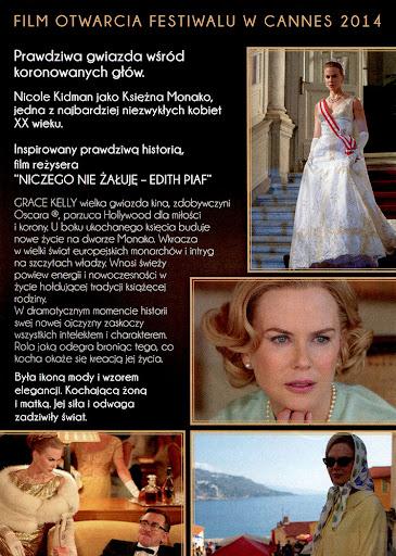 Tył ulotki filmu 'Grace Księżna Monako'