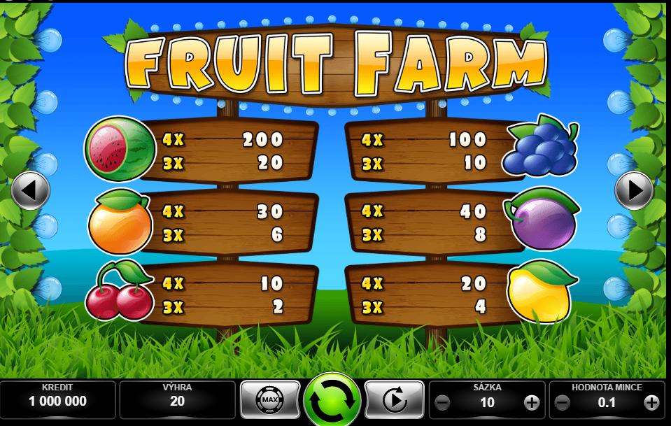 Fruit Farm výhry