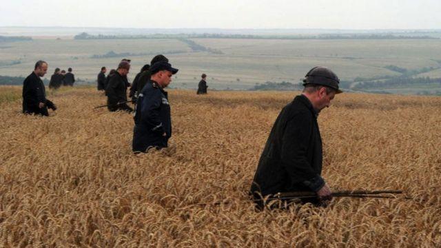шахтеры в поле