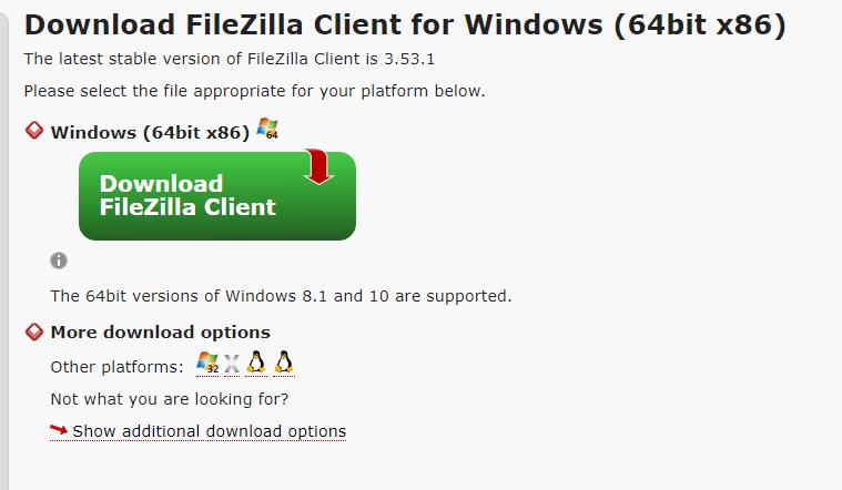 Cara download FileZilla