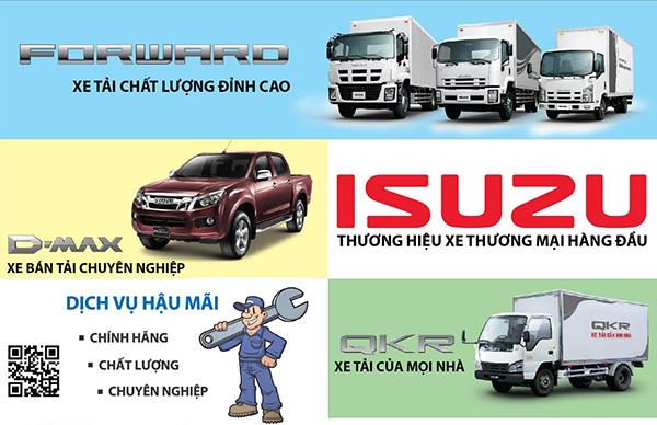 những mặt hàng xe Isuzu
