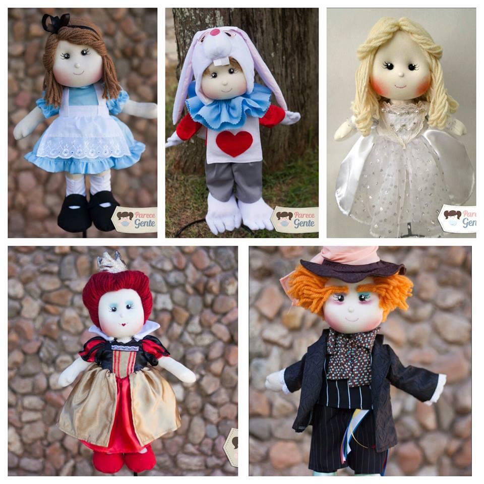 Bonecos Personagens Alice no pais das maravilhas de pano Parece Gente.jpg
