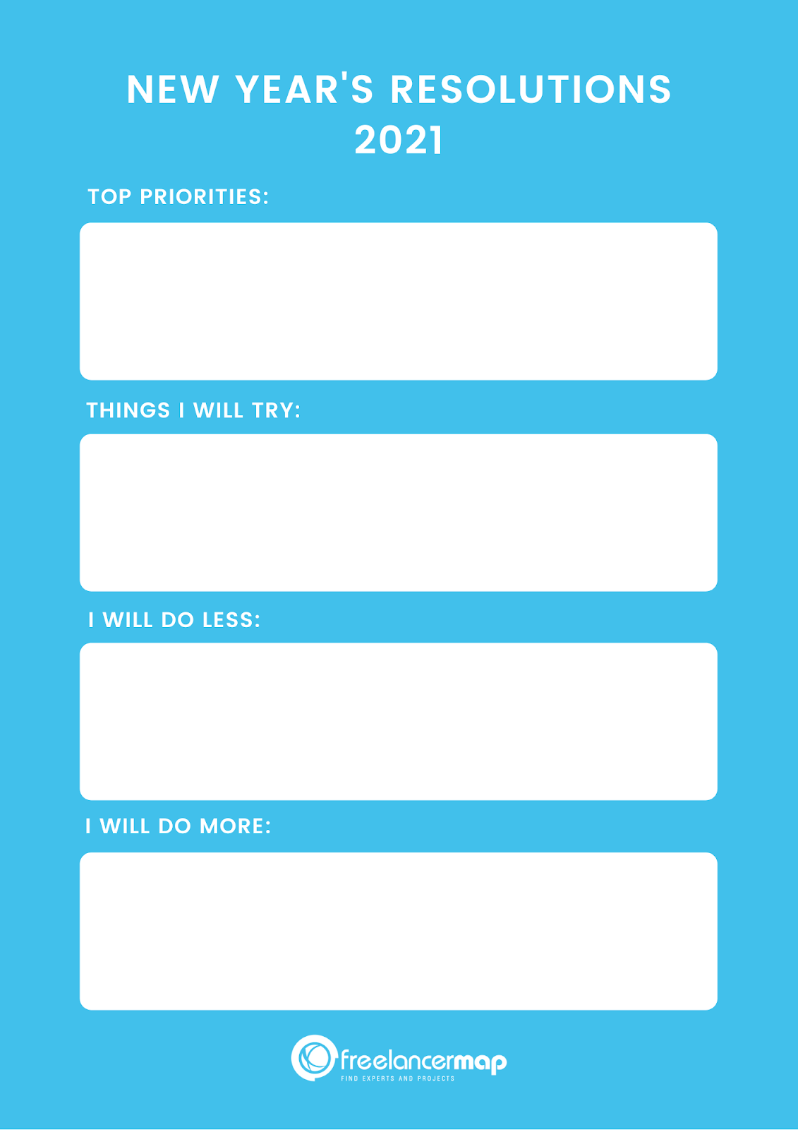 New Year's Resolution - Free Template