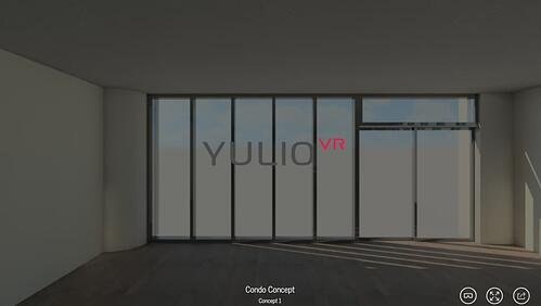 Yulio VR logo in VR project