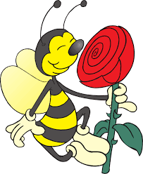 Image result for bee and flower cartoon