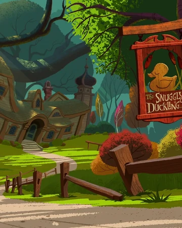 Image of Tangled's Snuggly Duckling tavern for Pinch Point #1 story example under story plot structure.
