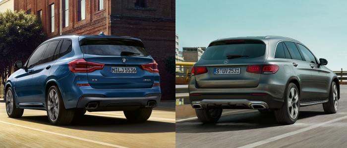 เปรียบเทียบด้านท้าย BMW x3 VS Mercedes-Benz GLC