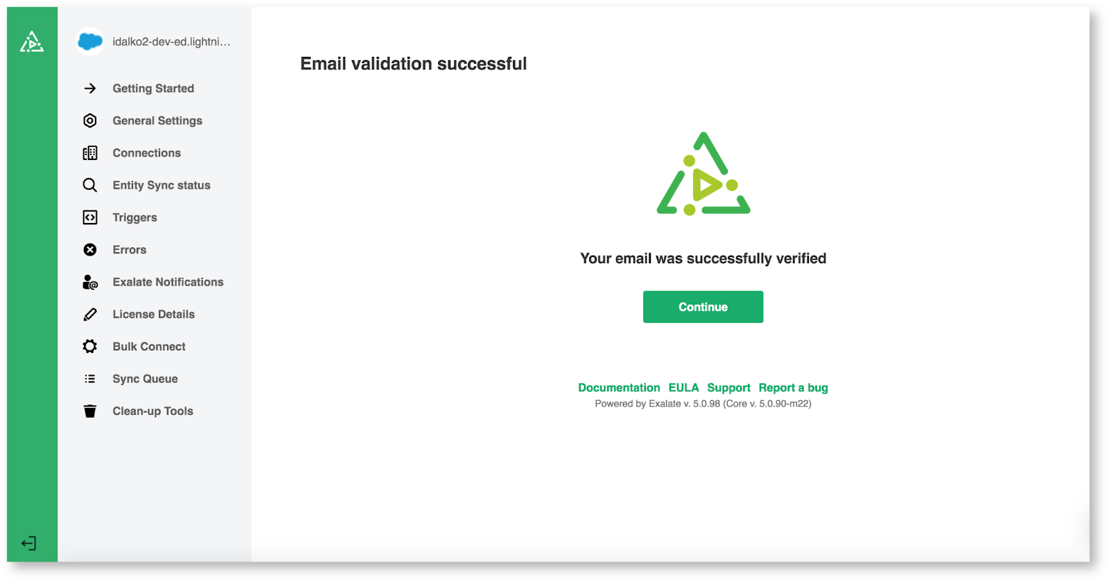 exalate for salesforce email validation
