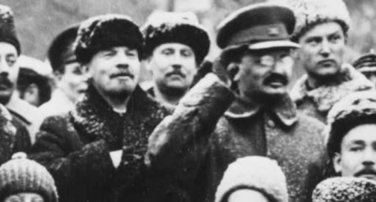 Владимир Ленин и Лев Троцкий