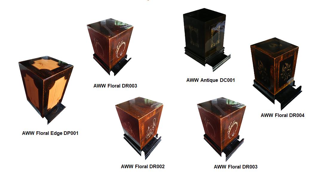 designs of cremation urns