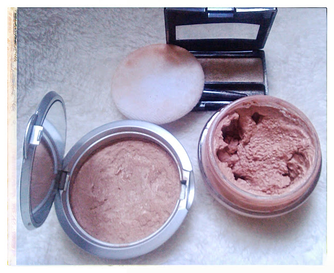 blush en crema, finish powder y sombra nacarada