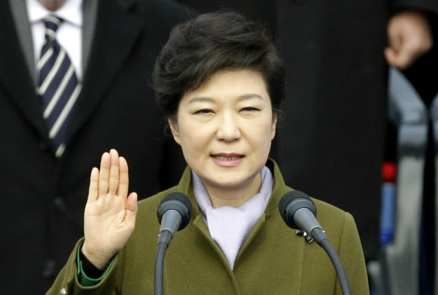 Fast-forward to 2013: Park Geun-hye has stepped out of her father's shadow and been elected president of South Korea. All things considered she was pretty popular at the time.