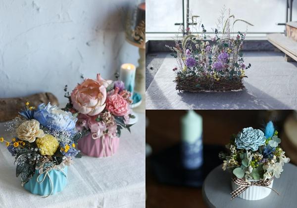 乾燥花製作-擴香乾燥花盆栽