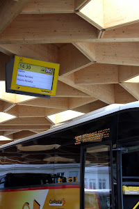 Bus at Sion Train Station