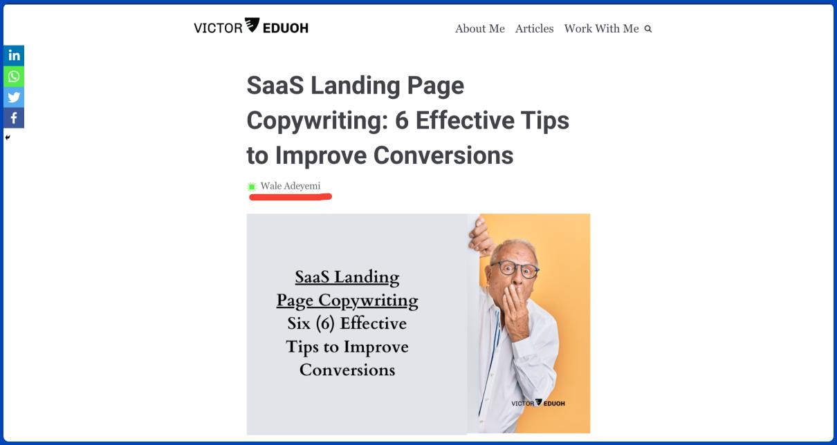 saas landing page copywriting