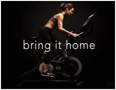 Girl Riding an Exercise Bike