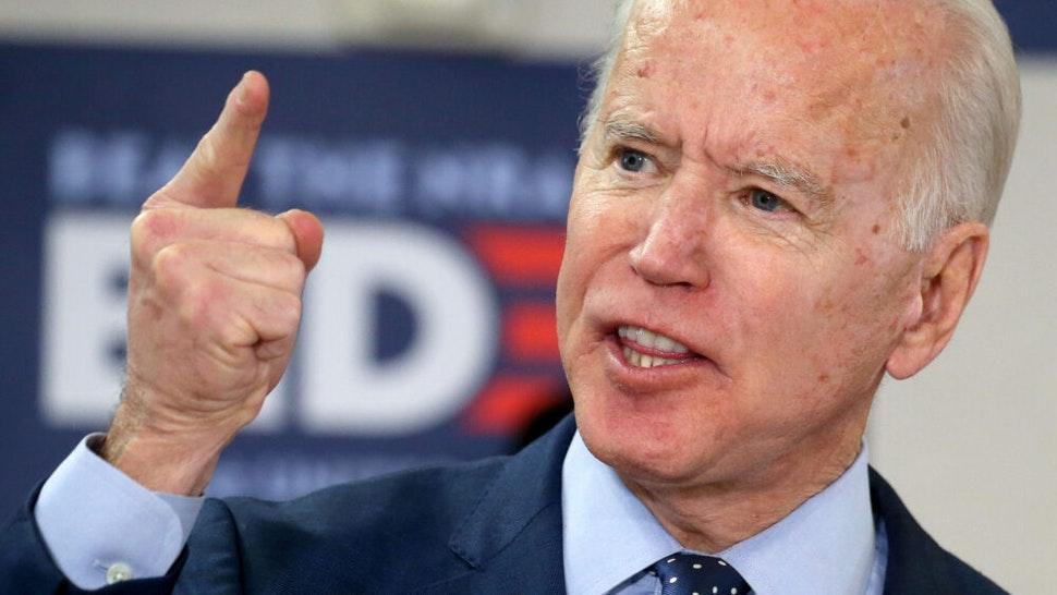 LAS VEGAS, NEVADA - FEBRUARY 20: Democratic presidential candidate former Vice President Joe Biden speaks about his plan to curb gun violence on February 20, 2020 in Las Vegas, Nevada. Biden was joined by gun violence survivors and activists. The upcoming Nevada Democratic presidential caucus will be held February 22.