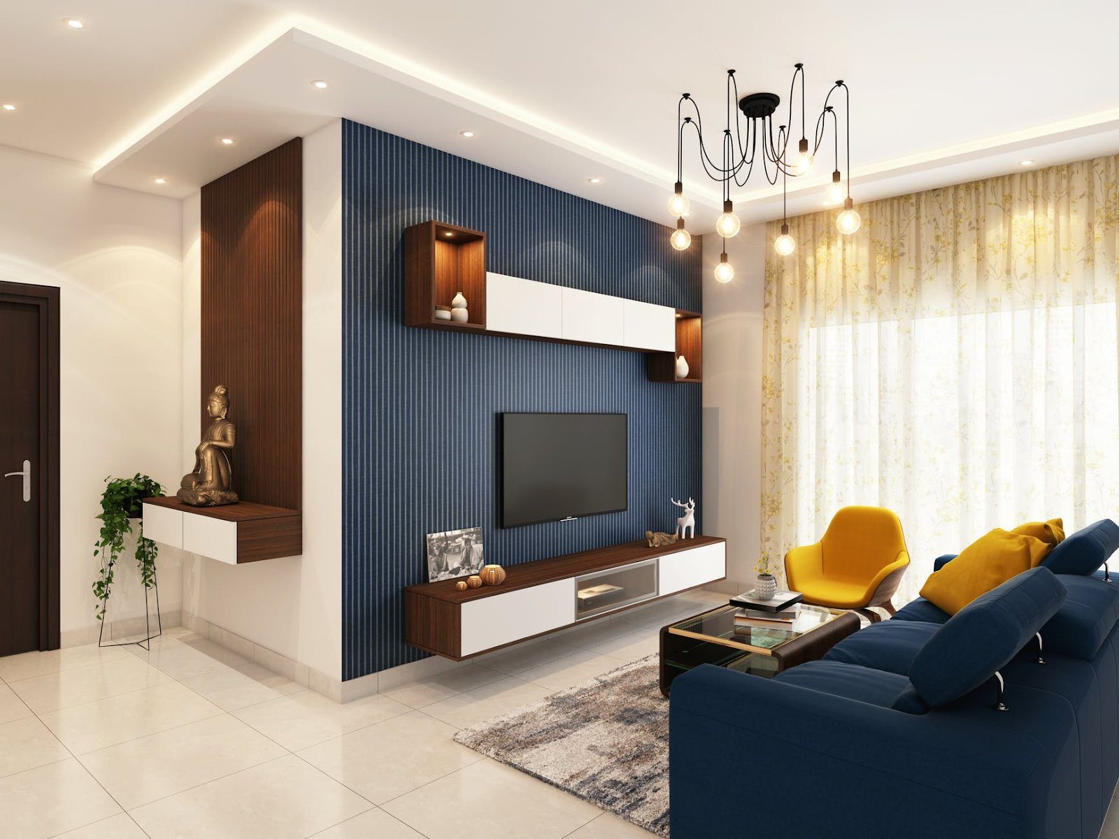 the entertainment center in a short-term rental property