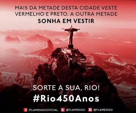 Twitter oficial do Flamengo erra até em Matemática