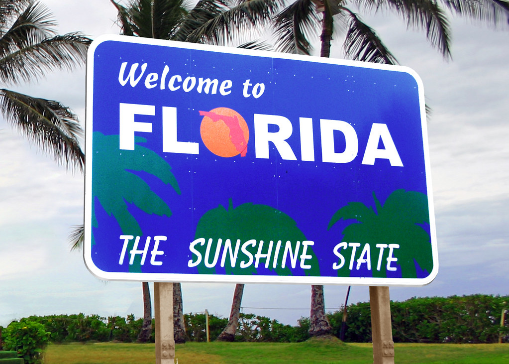 Florida bids Sunshine State sign