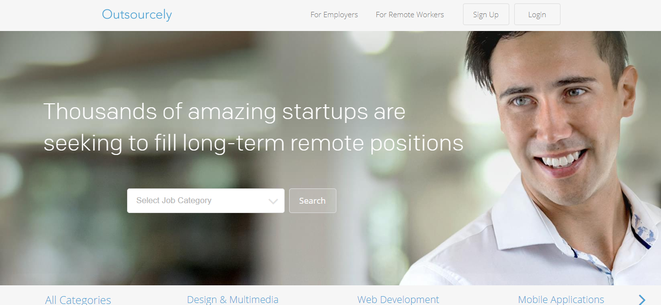 Outsourcely - Remote Jobs Website