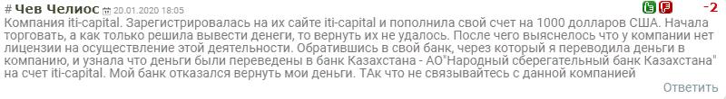 Фондовый брокер ITICapital: обзор и отзывы о компании