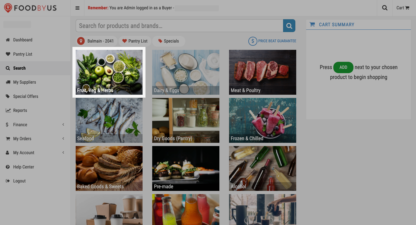 FoodByUs_dashboard_my_suppliers_marketplace_pick_a_category