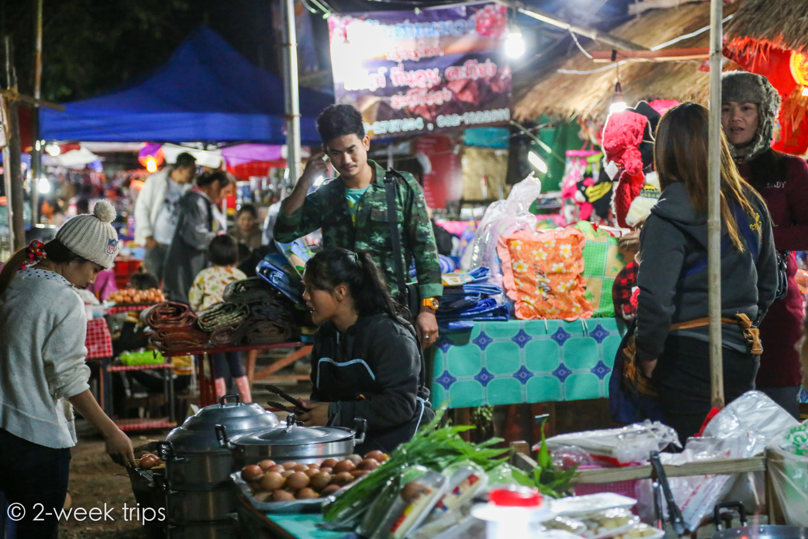 Camping with locals in Doi Ang khang Thailand