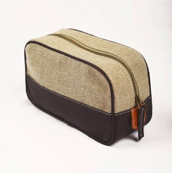 vegan leather wash bag