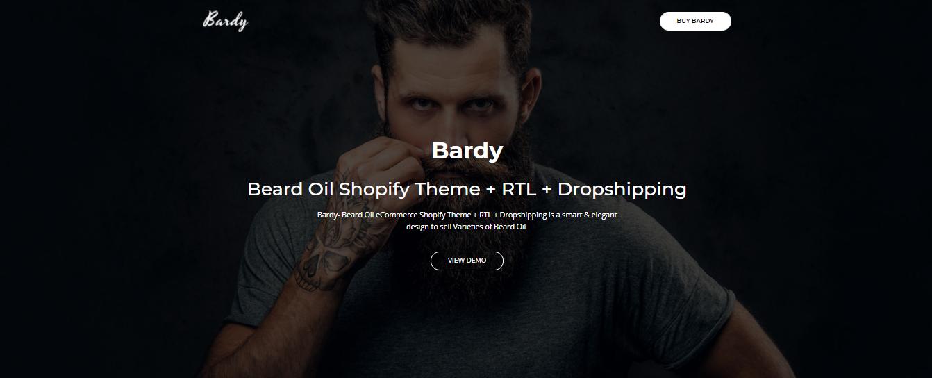 Bardy - Hair salon shopify theme