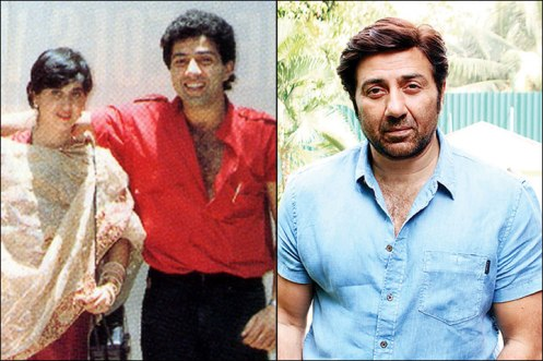 Sunny Deol and Pooja Deol
