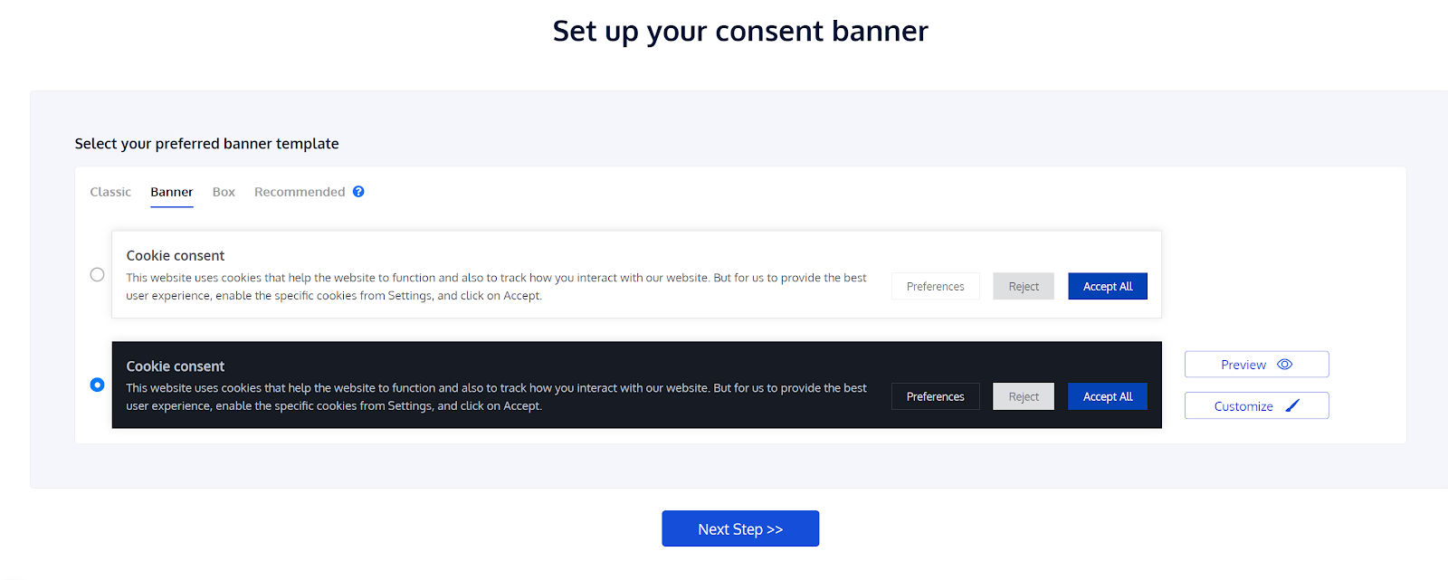 CookieYes Cookie consent banner setup